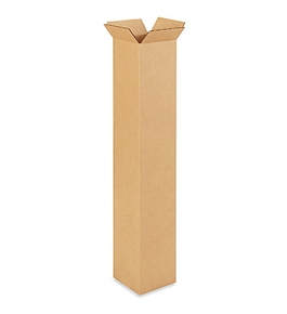 "6"" x 6"" x 38"" Tall Corrugated Boxes (Bundle of 25)"