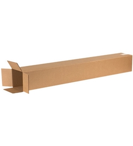 "6"" x 6"" x 48"" Tall Corrugated Boxes (Bundle of 25)"