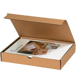 "7 3/8"" x 7 3/8"" x 1 3/8"" Kraft Literature Mailers (50 Each Per Bundle)"