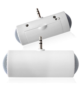 L2go 3.5mm Mini Portable Stereo Speaker for iPod iPhone MP3 MP4 Player Smartphone Tablet