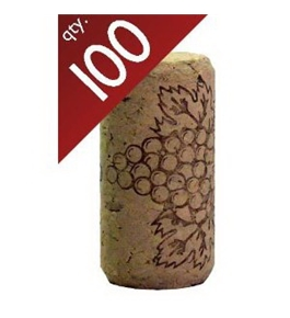 "#8 Straight corks 7/8"" x 1 3/4"" Bag of 100"