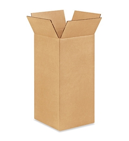 "8"" x 8"" x 17"" Tall Corrugated Boxes (Bundle of 25)"