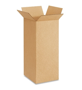 "8"" x 8"" x 20"" Tall Corrugated Boxes (Bundle of 25)"