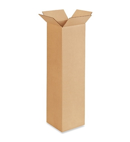 "8"" x 8"" x 30"" Tall Corrugated Boxes (Bundle of 25)"