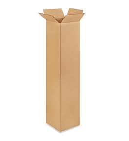 "8"" x 8"" x 36"" Tall Corrugated Boxes (Bundle of 25)"