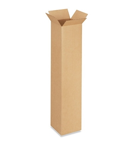 "8"" x 8"" x 42"" Tall Corrugated Boxes (Bundle of 20)"