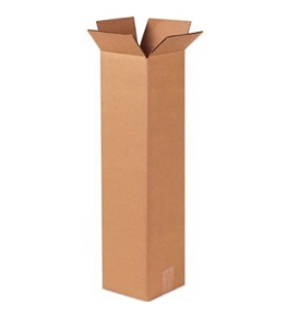 "8"" x 8"" x 48"" Tall Corrugated Boxes (Bundle of 20)"