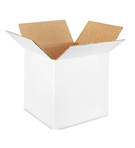 "8"" x 8"" x 8"" White Corrugated Boxes (Bundle of 25)"