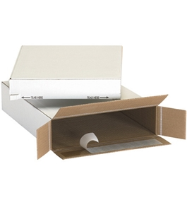 "9 1/4"" x 3"" x 6 3/4"" Self Seal Side Loading Boxes (25 Each Per Bundle)"