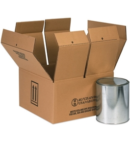 "9 7/16"" x 4 7/16"" x 5"" 2 - 1 Quart Haz Mat Boxes (25 Each Per Bundle)"