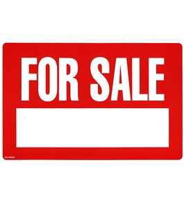 Garvey Printed Plastic Sign 098009 For Sale/Lettering Red and White