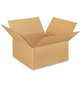 "9"" x 9"" x 4"" Flat Corrugated Boxes (Bundle of 25)"