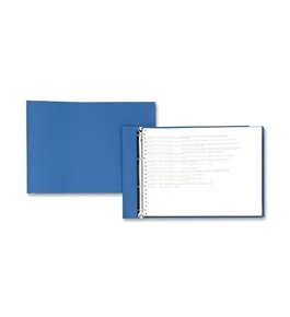 ACCO 59273 Flexible Accohide Square Ring Binder For 11X14-7/8 Sheets, 1-1/2 Cap., Blue