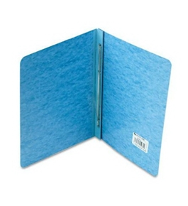 ACCO Pressboard Report Cover, Side Bound, Tyvek Reinforced Hinge, 8.5 Inch Centers, 3 Inch Capacity, Letter Size, Light Blue (A7025972A)