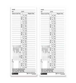 ACP091142470 - Weekly Time Cards, Antimicrobial, Double-Sided, 400/PK, White
