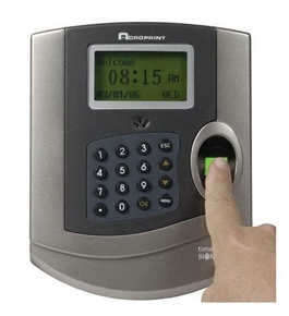 Acroprint 010231000 Time Q Plus Biometric Time & Attendance System, up to 125 Employees