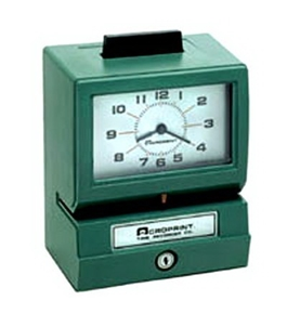 Acroprint BP125-6RR4 Battery Powered Punch Clock