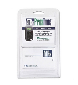Acroprint Proximity Badges For Atrx Proxtime Electronic Time Recorder System