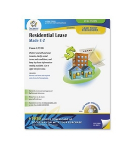 Adams Residential Lease Form, 8.5 x 11 Inch, White (LF310)