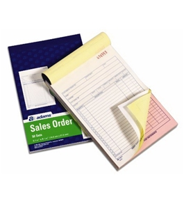 Adams Sales Order Book, 5.67 x 8.55 Inch, 3-Part, Carbonless, 100 Sets, White, Canary and Pink (NC5805)