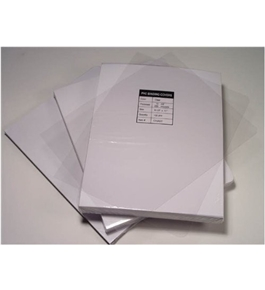 "Akiles 5 Mil 8.5"" x 14"" Square Corner With Tissue Interleaving Crystal Clear Binding Covers (100 Pcs)"