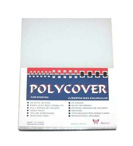 "Akiles Polycovers 16 MIL Thick, Clear Color (Size: 8.5"" X 11"" Emboss: CRYSTAL)"
