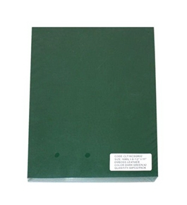 "Akiles Polycovers 16 MIL Thick, Dark Green Color (Size: 8.5"" X 11"" Emboss: LEATHER)"