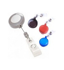 Akiles Red Retractable Badge Holders (Qty 10)