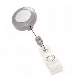 Akiles White Retractable Badge Holders (Qty 10)