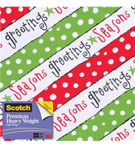 Scotch Gift Wrap, Happy Verbiage Pattern, 25-Square Feet, 30-Inch x 10-Feet (AM-WPHV-12)