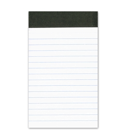 "Ampad 20-208 Evidence 3"" x 5"" Narrow Perforated Writing Pads - White (12 Pads of 50 Sheets Each)"