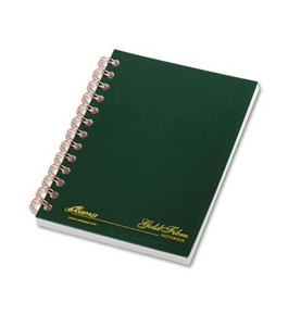 Ampad 20-801 Gold Fibre Classic Series Personal Notebook, with Pocket Cover, Page and Date Headings with Pocket Cover,date Medium Ruling 100 Sheets