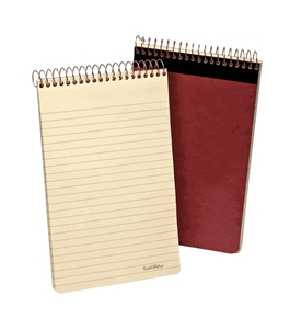 Ampad Gold Fibre Retro Writing Pad, Red Cover, Ivory Paper, 5 x 8, Medium Rule, 80-Sheets, 1-Each