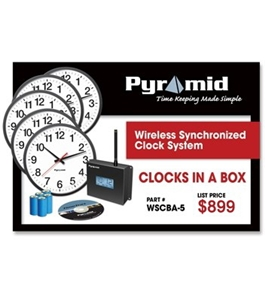 Pyramid's Clocks in a Box Analog Bundle - Wireless Synchronized Clock System