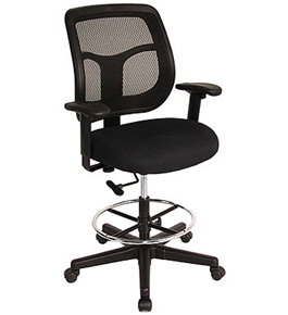 EUROTECH APOLLO DRAFTING STOOL NEW DFT9800 FABRIC TASK CHAIR