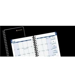 AT-A-GLANCE Recycled Collegiate Weekly/Monthly Appointment Book, 3 3/4-Inch x 6-Inch, Black, 2011/2012