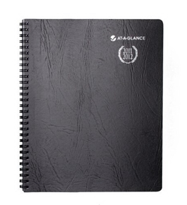 AT-A-GLANCE Recycled Collegiate Weekly/Monthly Appointment Book, 8-Inch x 9 7/8-Inch, Black, 2011/2012