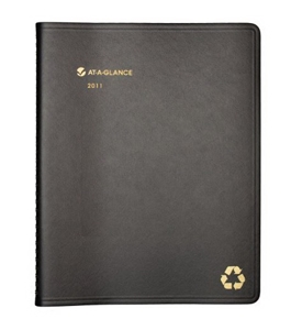 AT-A-GLANCE Recycled Weekly/Monthly Appointment Book, 8 x 11 Inches, Black, 2011 (70-950G-05)