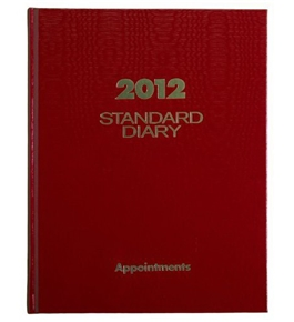 AT-A-GLANCE Standard Diary, Recycled Daily Appointment Book, 8 x 10 Inches, Red, 2012 (SD910-13)