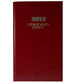 AT-A-GLANCE Standard Diary, Recycled Daily Diary, Red, 2012 (SD381-72)