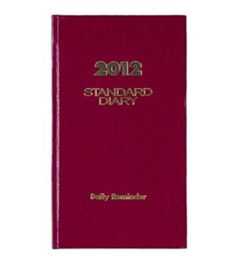 AT-A-GLANCE Standard Diary, Recycled Daily Reminder, Red, 2012 (SD366-13)