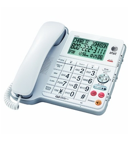 AT&T Corded Phone with Digital Answering System, White (CL4939)