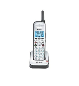 AT&T SB67108 Cordless Phone Accessory Handset, Black/Silver, 1 Accessory Handset