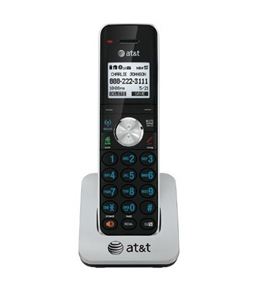 AT&T TL90071 DECT 6.0 Cordless Phone Accessory Handset, Black/Silver, 1 Accessory Handset