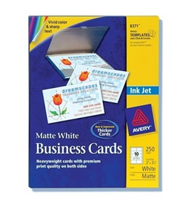 Avery Business Cards for Inkjet Printers, Matte, White, Pack of 250 (08371)