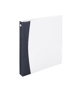Avery Comfort Touch Durable View Binder with 1-Inch Slant Ring, Holds 8.5 x 11-Inch Paper, White with Black Spine, 1 Binder (17406)