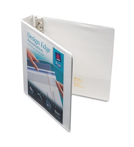 Avery Design Edge View Binder with 1.5-Inch Slant Ring, Holds 8.5 x 11-Inch Paper, White, 1 Binder (68085)