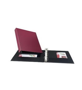 Avery Durable Binder with 1-Inch Slant Ring, Holds 8.5 x 11-Inch Paper, Burgundy, 1 Binder (27252)