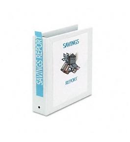 binder avery economy view binder with 2 inch round ring white 1