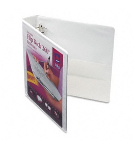 Avery Flip Back 360 Degree Binder with 1.5 Inch Ring, White, 1 Binder (17590)